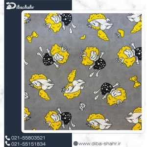 پارچه لباسی اسپان لاکرا طرح فرشته و اسب کد 247