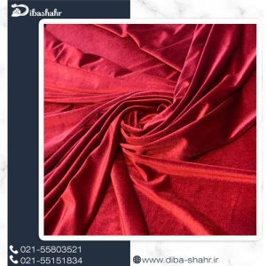 پارچه مخمل لباسی کره ای قرمز کد 260A