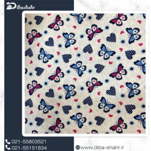 پارچه لباسی اسپان لاکرا طرح پروانه ای کد 248