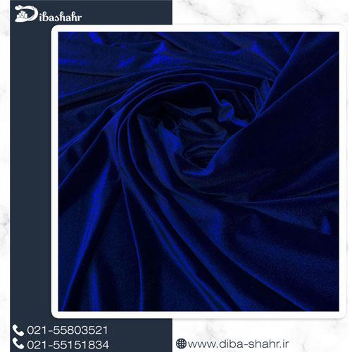 پارچه مخمل لباسی کره ای سرمه ای کد 260I