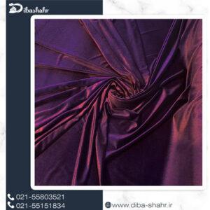 پارچه مخمل لباسی کره ای بادمجونی کد 260J
