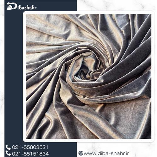 پارچه مخمل لباسی کره ای طوسی کد 260C