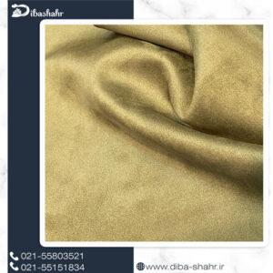 پارچه مخمل لباسی سوئیت سبز زیتونی کد 261C