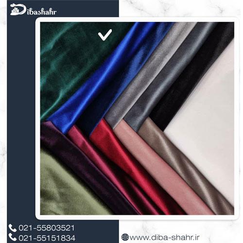 پارچه مخمل لباسی کره ای سبز کد 260D