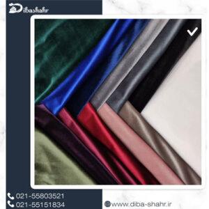 پارچه مخمل لباسی کره ای مشکی کد 260H